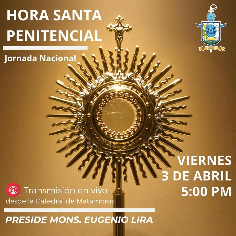 Mons. Eugenio Lira preside Hora Santa Penitencial